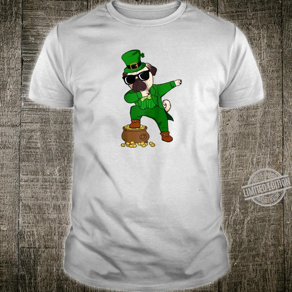 Dabbing Pug Leprechaun St Patricks Day Dog Shirt