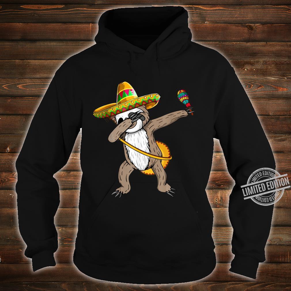 Dabbing Sloth Cinco De Mayo Sombrero Mexican Dab Cute Shirt hoodie
