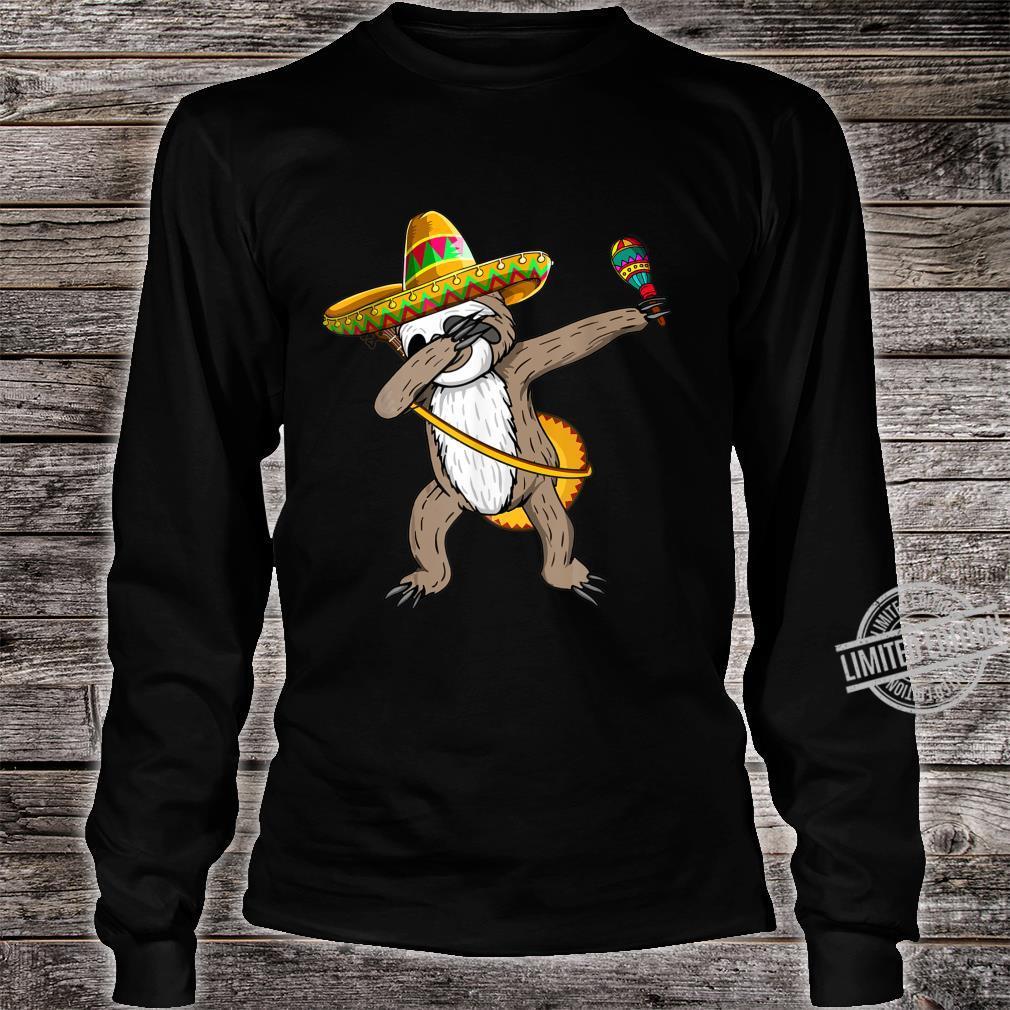 Dabbing Sloth Cinco De Mayo Sombrero Mexican Dab Cute Shirt long sleeved