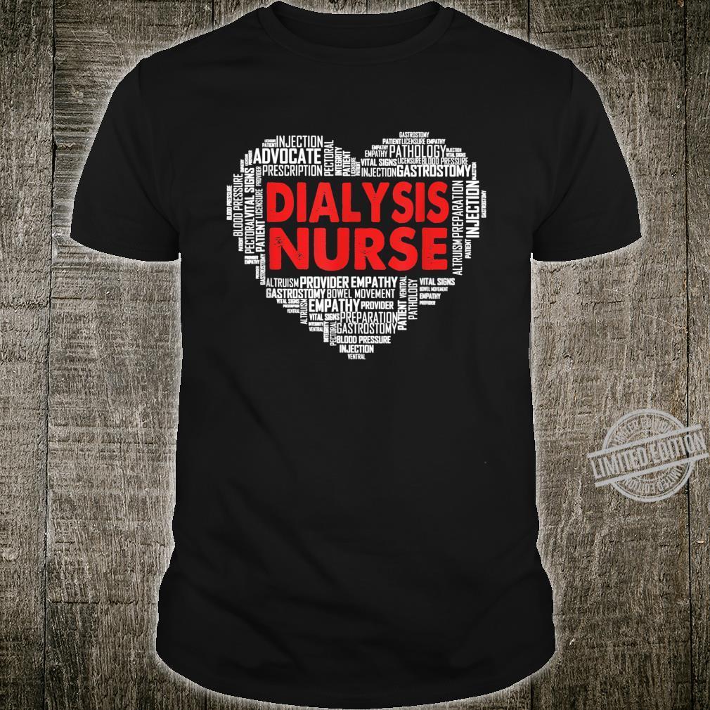 Dialysis Nurse Costume Heart Shape For Nursing Shirt