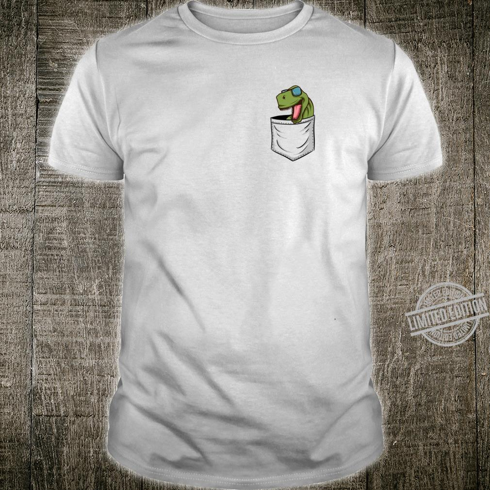 DinoLovers Dinosaur with Glasses TRex In Your Pocket Shirt