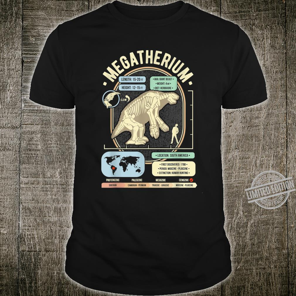 Dinosaur Facts Megatherium Sloth Science & Anatomy Shirt