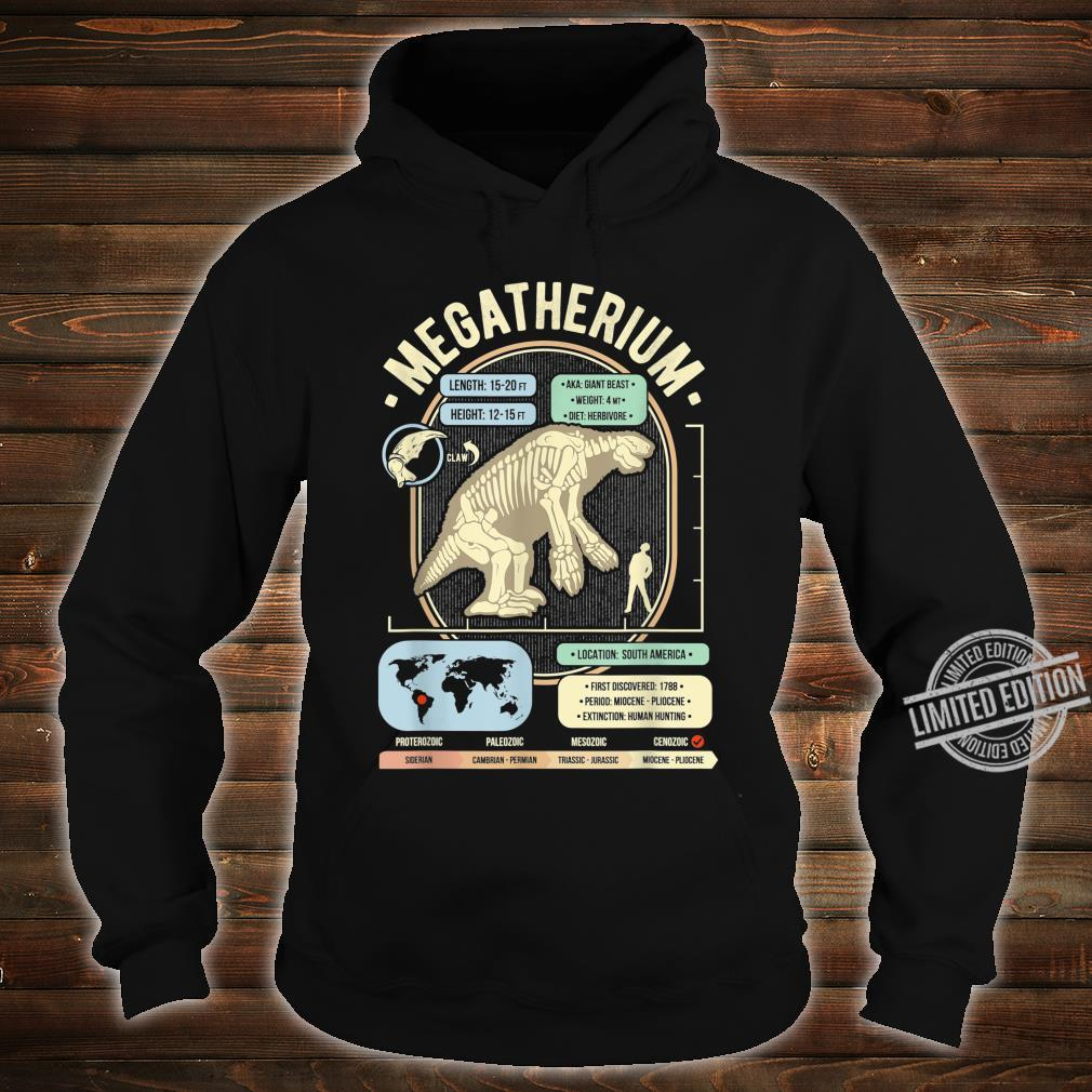 Dinosaur Facts Megatherium Sloth Science & Anatomy Shirt hoodie