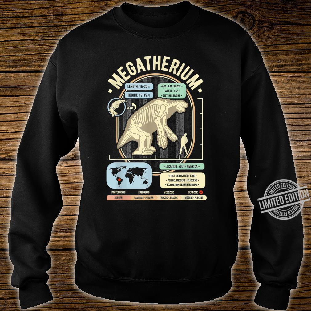 Dinosaur Facts Megatherium Sloth Science & Anatomy Shirt sweater