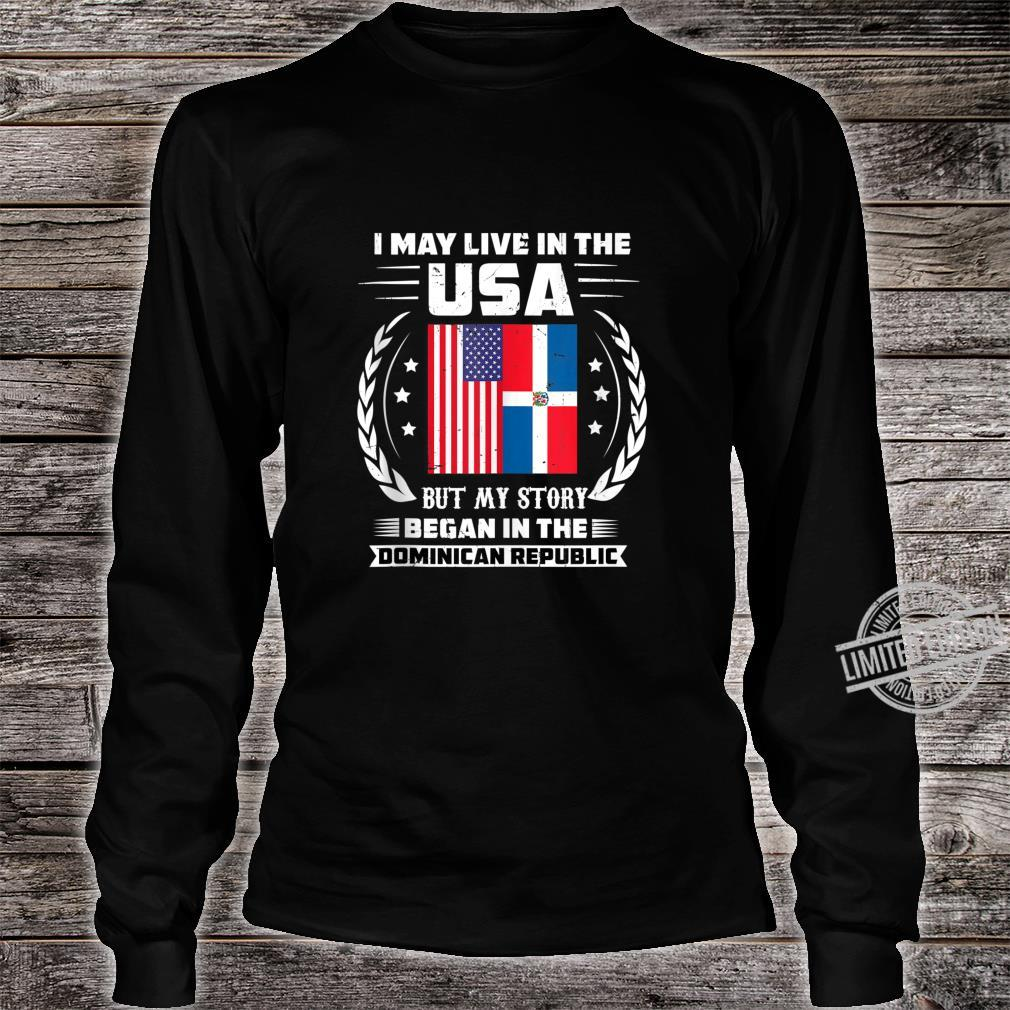 Dominican Republic Flag Carribbean Republica Dominicana Shirt long sleeved