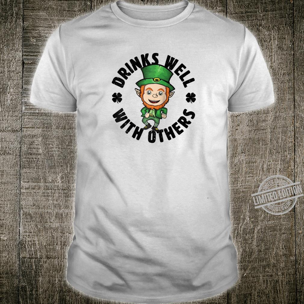 Drinks Well With Others St Patrick's Day Leprechaun Shirt