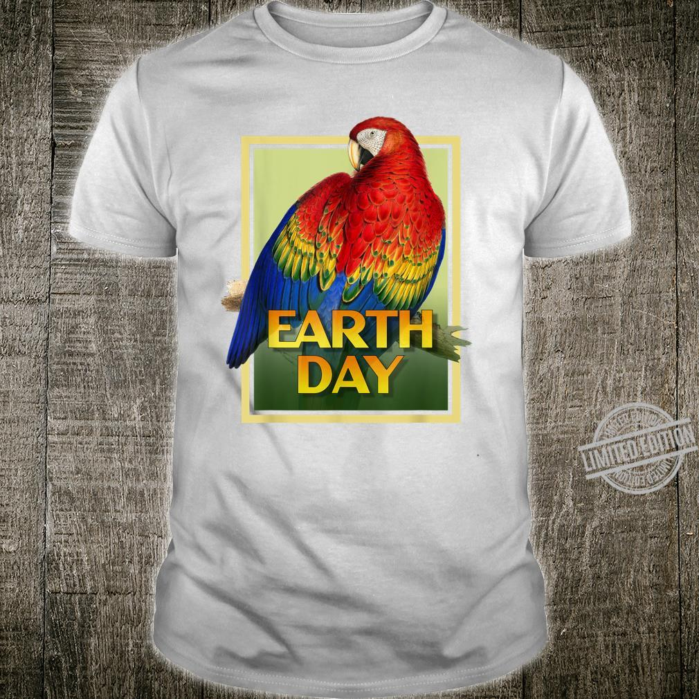Earth Day 50th Anniversary RedYellow Macaw Parrot Set 2 Shirt