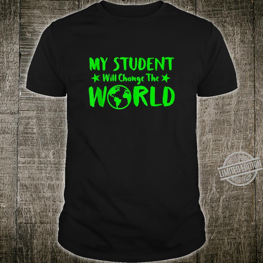 Earth Day 50th Anniversary Student Change World Teacher Shirt