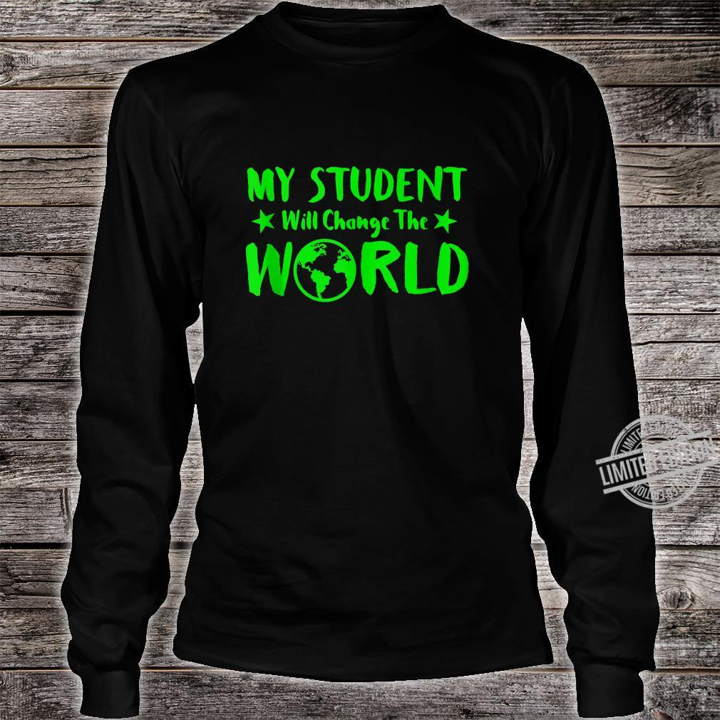 Earth Day 50th Anniversary Student Change World Teacher Shirt long sleeved