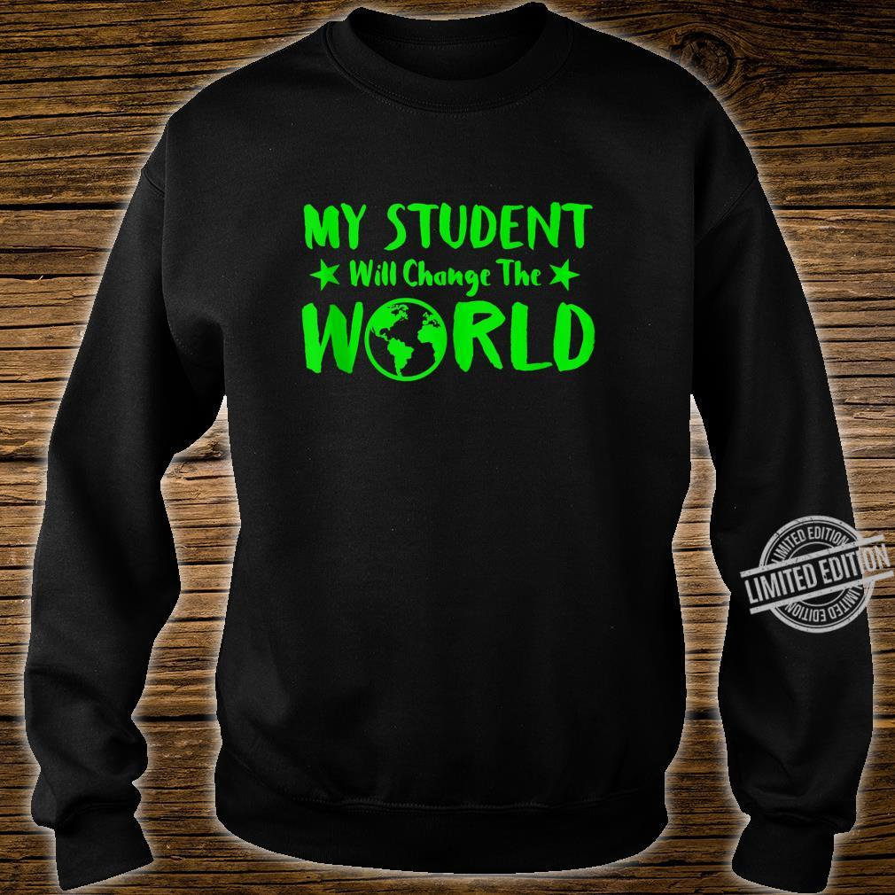 Earth Day 50th Anniversary Student Change World Teacher Shirt sweater