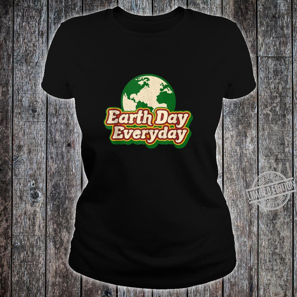 Earth Day Everyday 50th Anniversary Cute Planet Teacher Shirt ladies tee