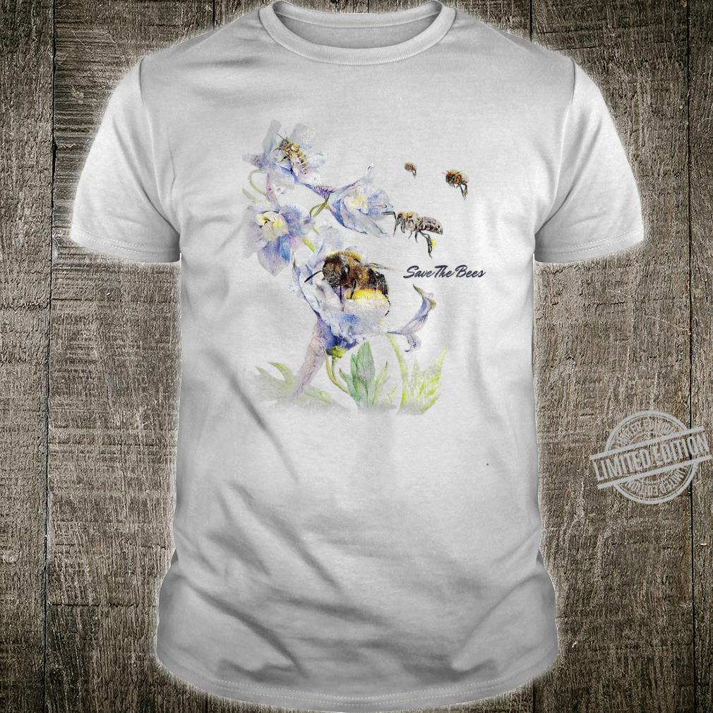 Earth Day Save The Bees Floral Shirt