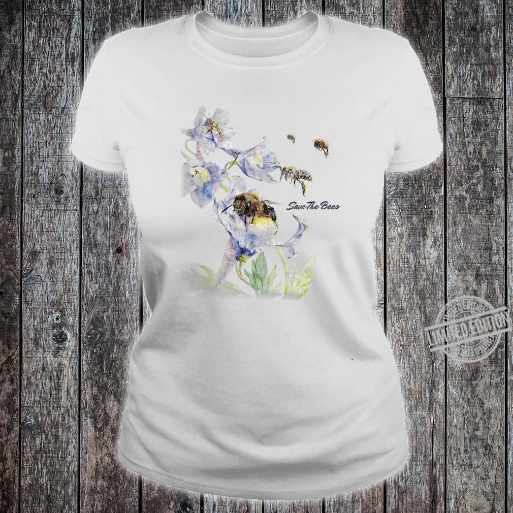 Earth Day Save The Bees Floral Shirt ladies tee
