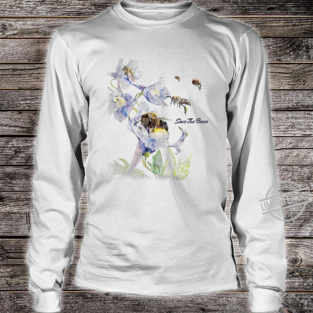 Earth Day Save The Bees Floral Shirt long sleeved