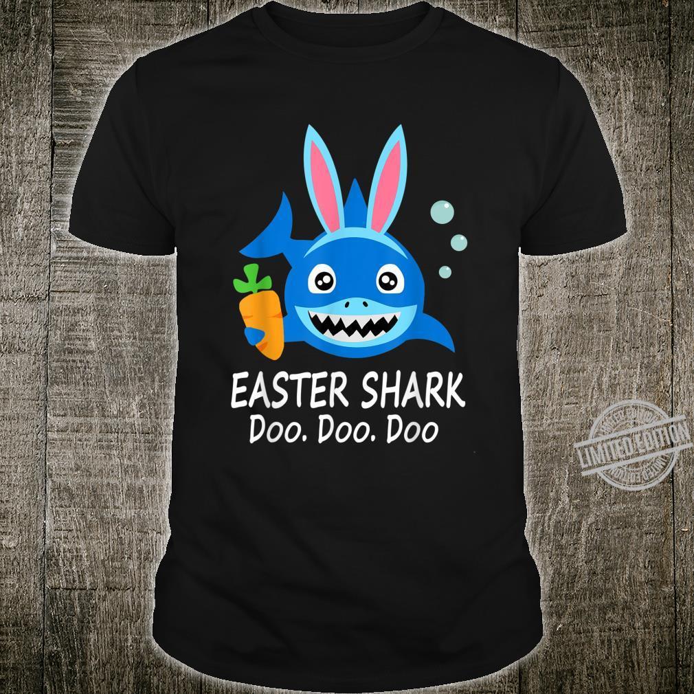 Easter Shark With Bunny Ear Egg Hunting Easter Shirt