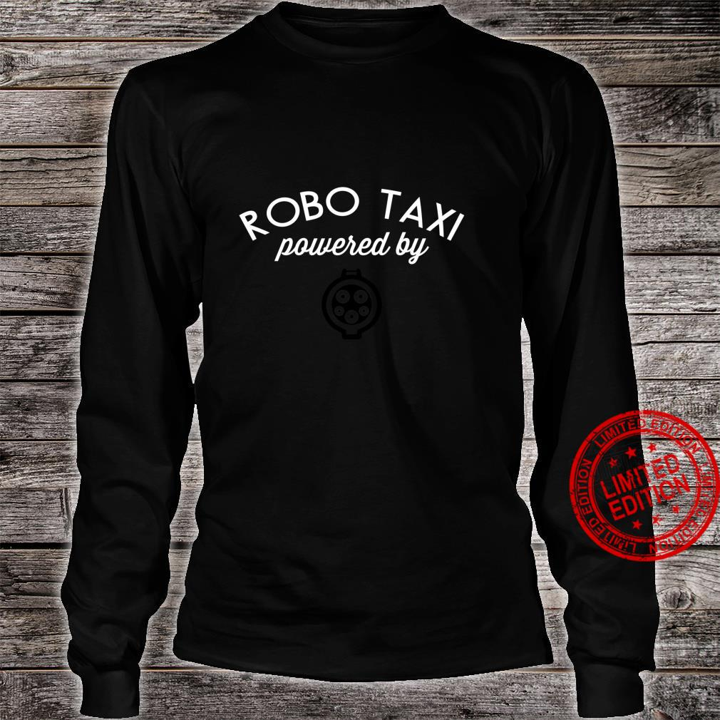 Electric Cars Idea EV Robo Taxi powered electric Cute Shirt long sleeved
