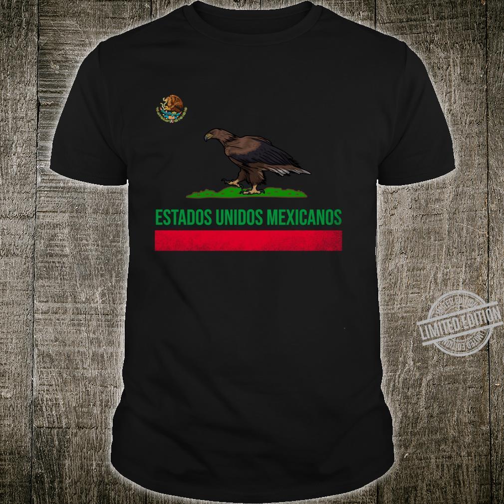 Estados Unidos Mexicanos Mexico and California Flag Combo Shirt