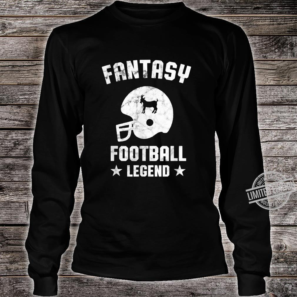 Fantasy Football Legend Vintage Draft Party Kit Trophäe Shirt long sleeved