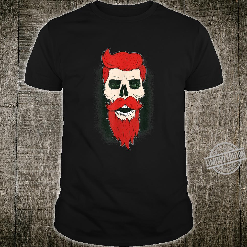 Fashion Bearded Mustache Hair Skull Shirt