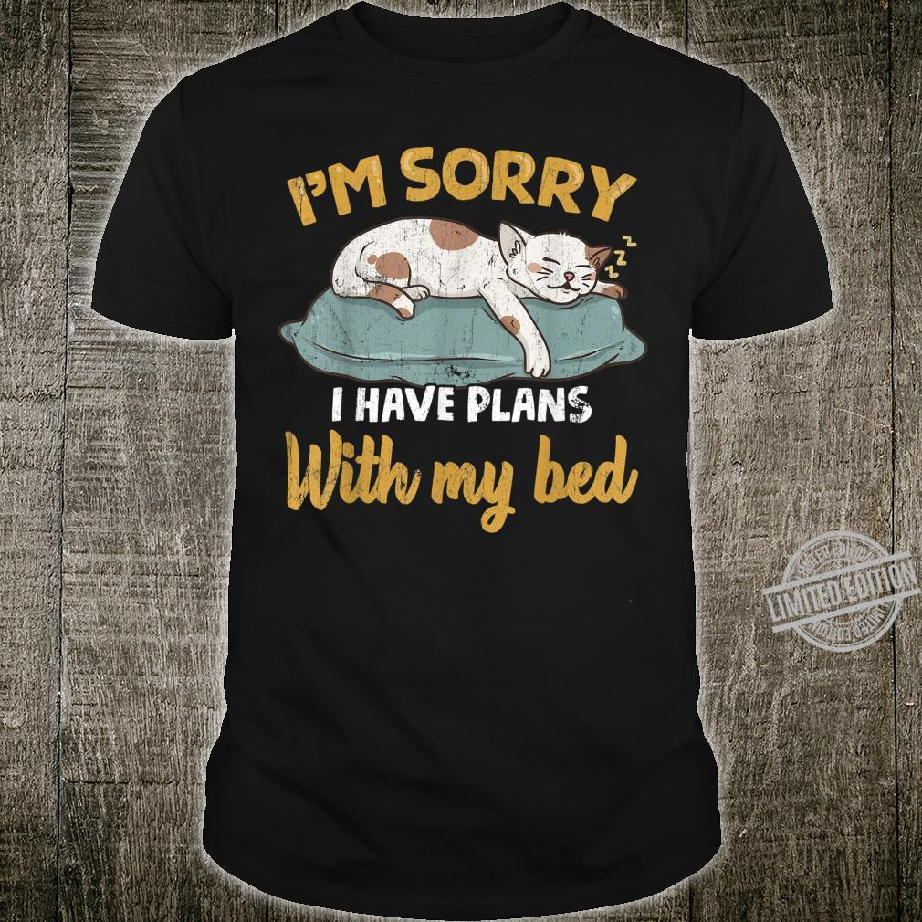 Faules, schläfriges Katzenbett ZZZ Katzenschläfchen Shirt