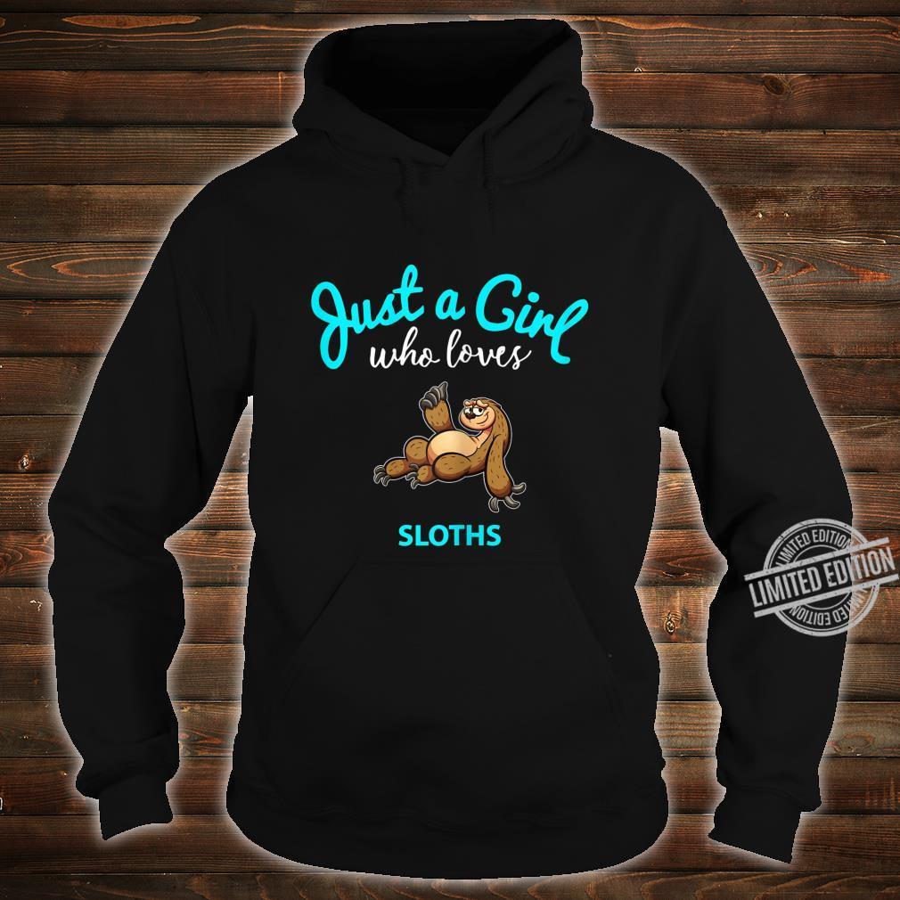 FaultierTShirt für Mädchen KinderFaultier Shirt hoodie
