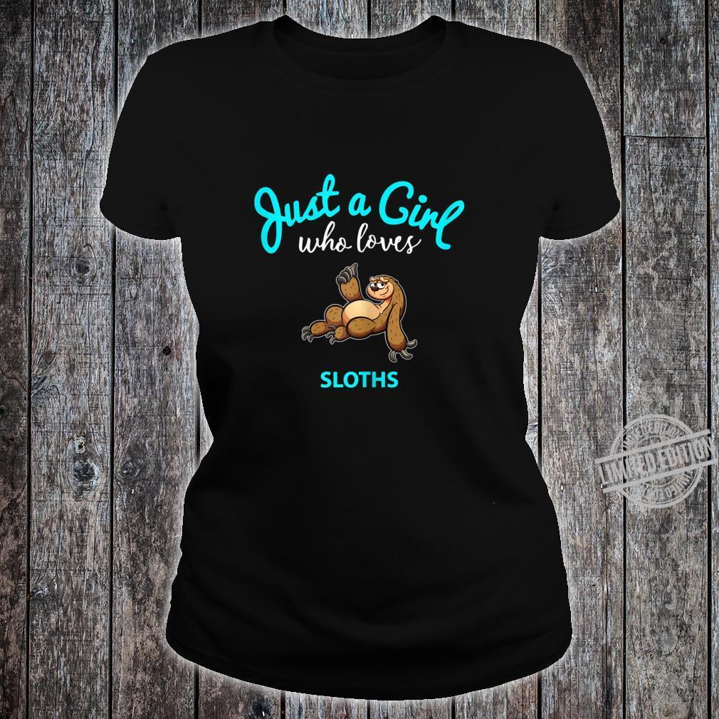FaultierTShirt für Mädchen KinderFaultier Shirt ladies tee