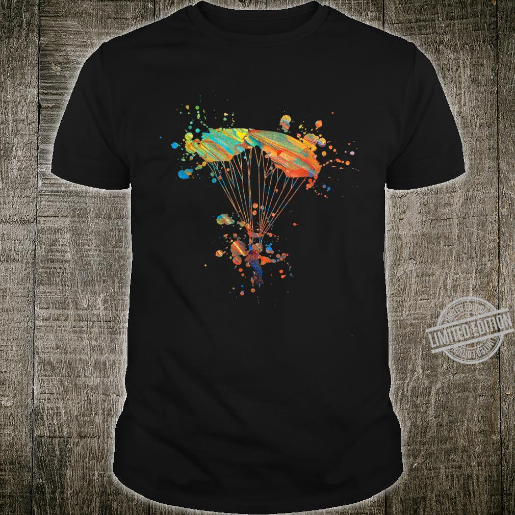 Funny Parachute Skydiving Heartbeat Sunset Love Shirt