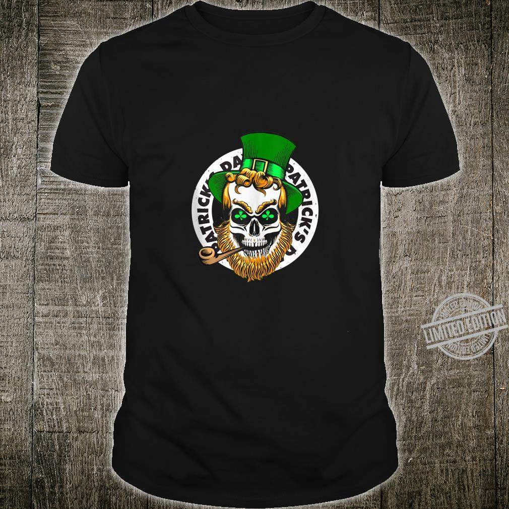 Funny Saint Patricks Day Costume Outfit Leprechaun Skull Shirt