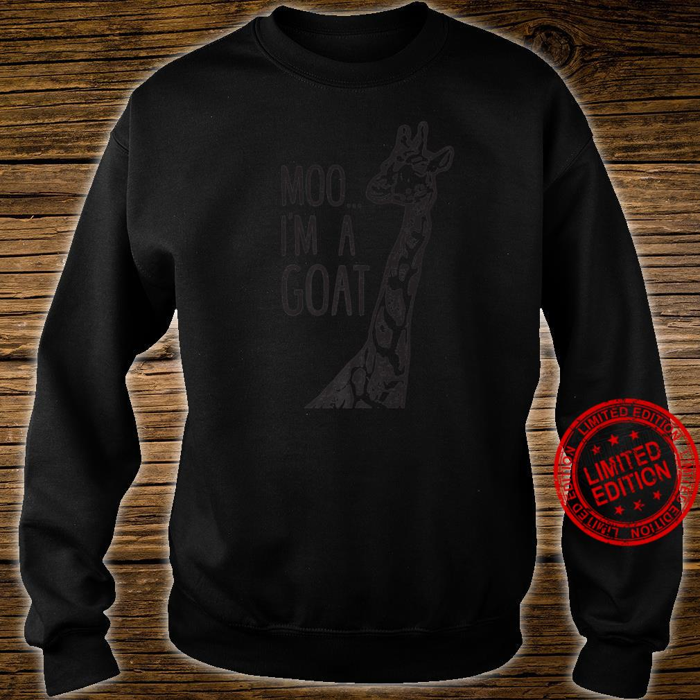 Funny design Giraffe Moo I'm A Goat Farm Zoo Animal design Shirt sweater