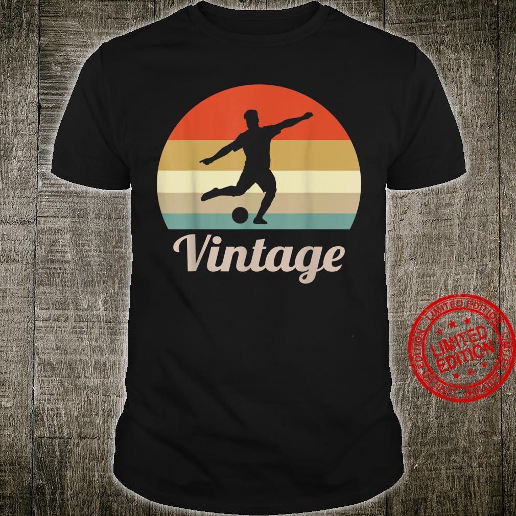 Fussball Spieler Fussballspieler Sport Vintage Retro Style Shirt