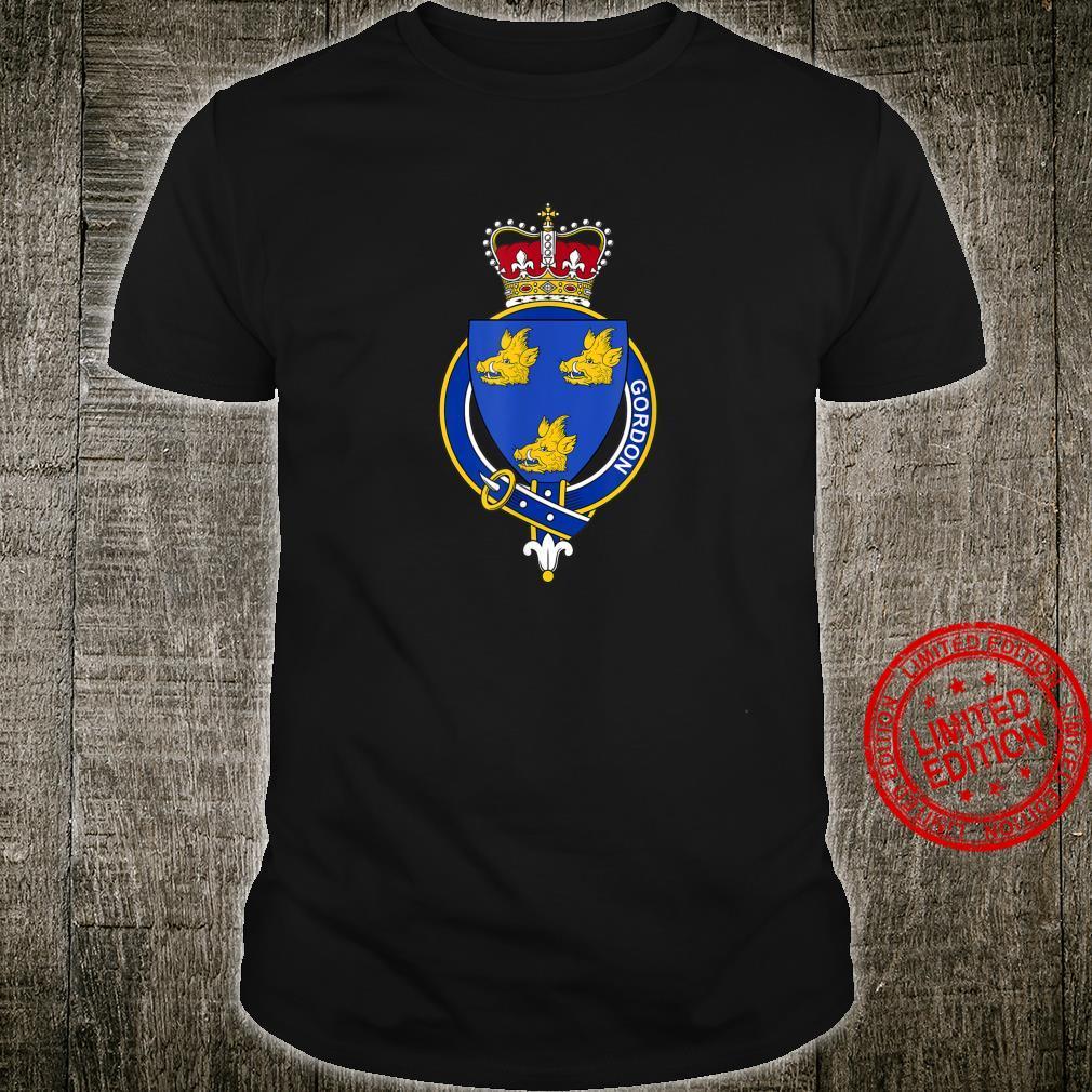 Gordon Coat of Arms Family Crest Shirt