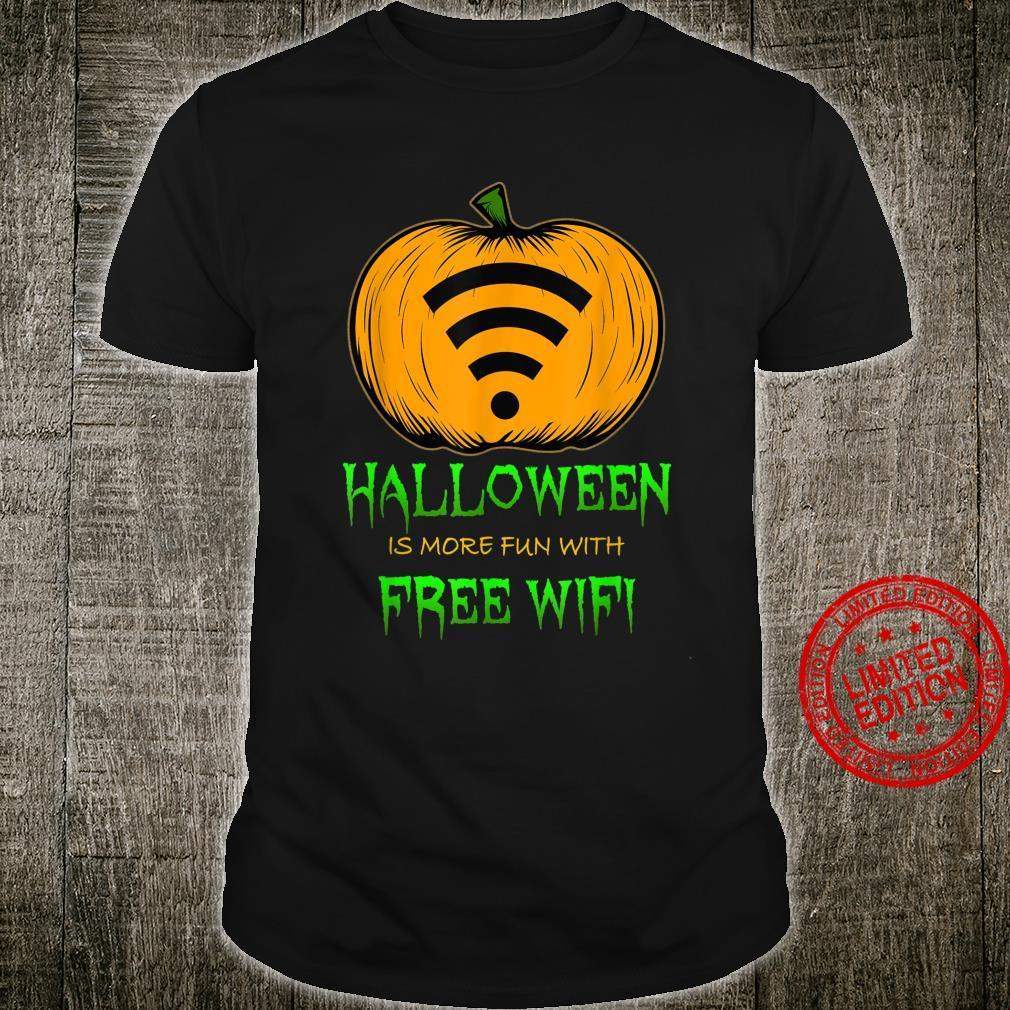 Got Free Wifi Pumpkin Carving Halloween Shirt