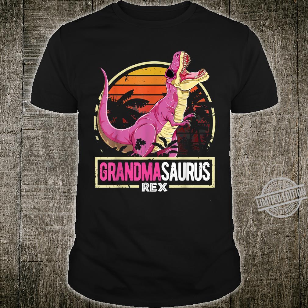 Grandmasaurus Shirt Birthday Retro Sunset Trex Family Shirt