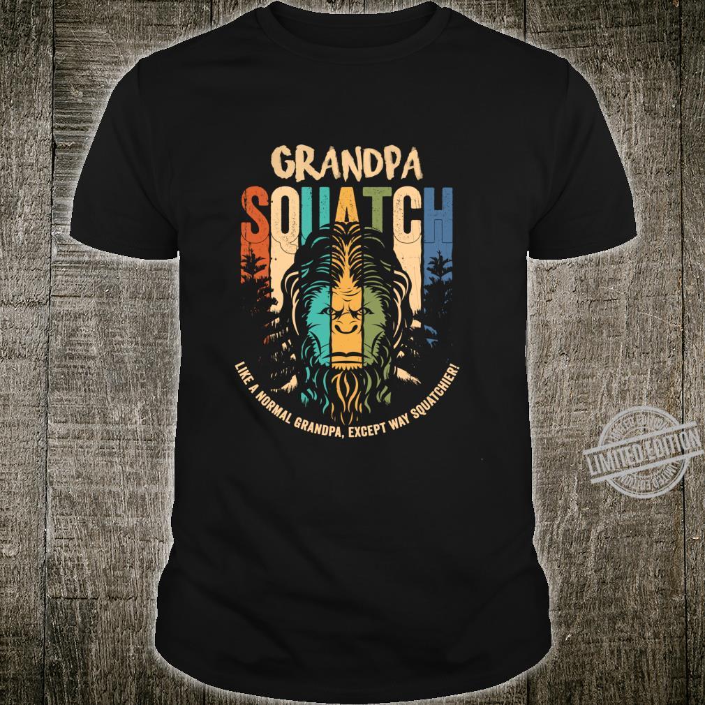 Grandpa Squatch Lustig Bigfoot Sasquatch Vater Tag Geschenk Langarmshirt Shirt