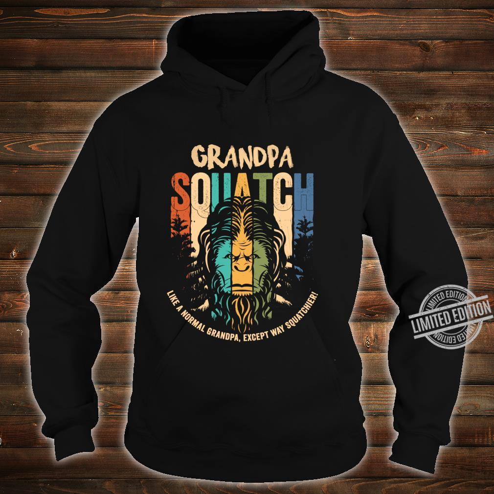 Grandpa Squatch Lustig Bigfoot Sasquatch Vater Tag Geschenk Langarmshirt Shirt hoodie