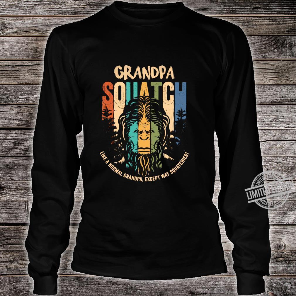 Grandpa Squatch Lustig Bigfoot Sasquatch Vater Tag Geschenk Langarmshirt Shirt long sleeved