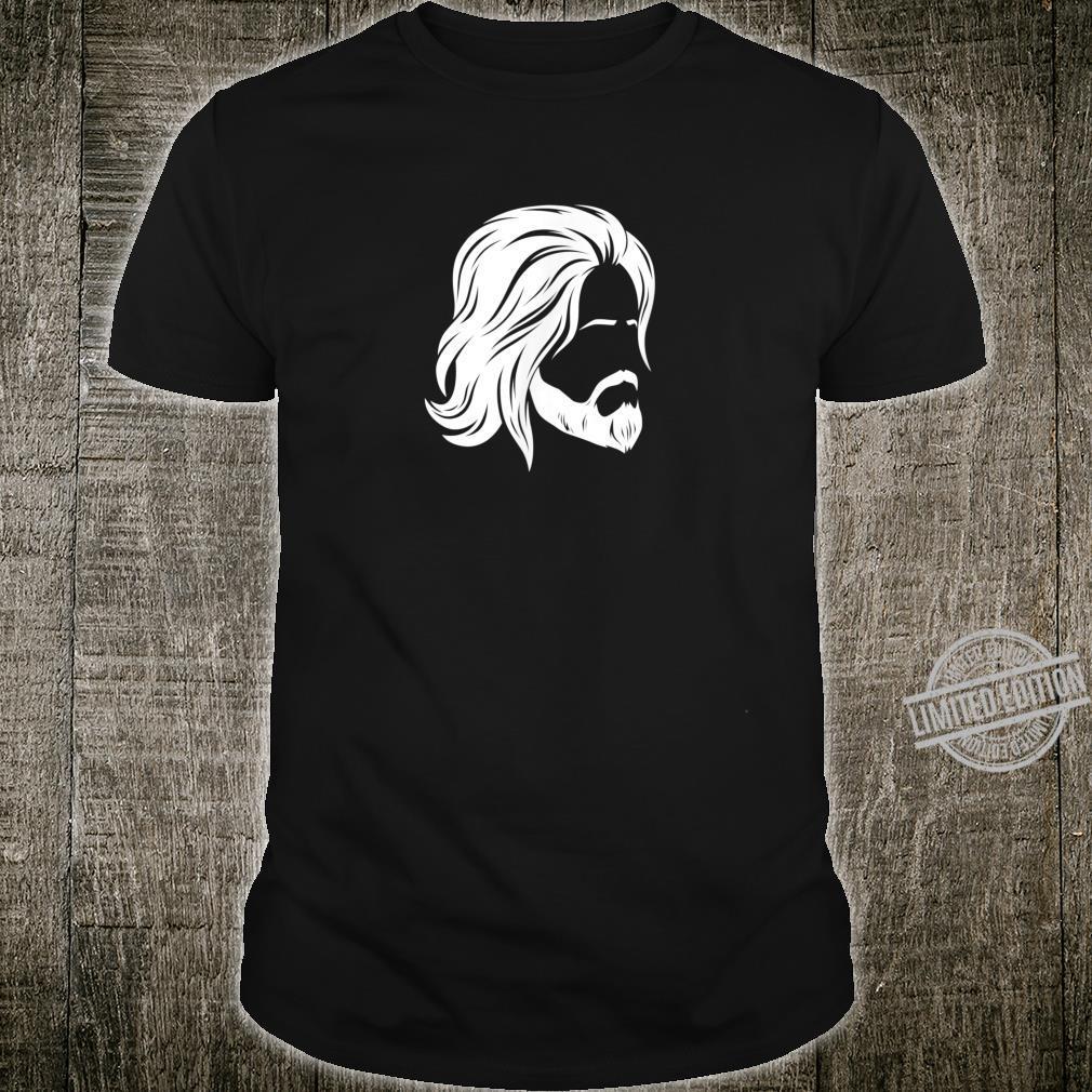 Herren Mann mit langen Haaren Shirt