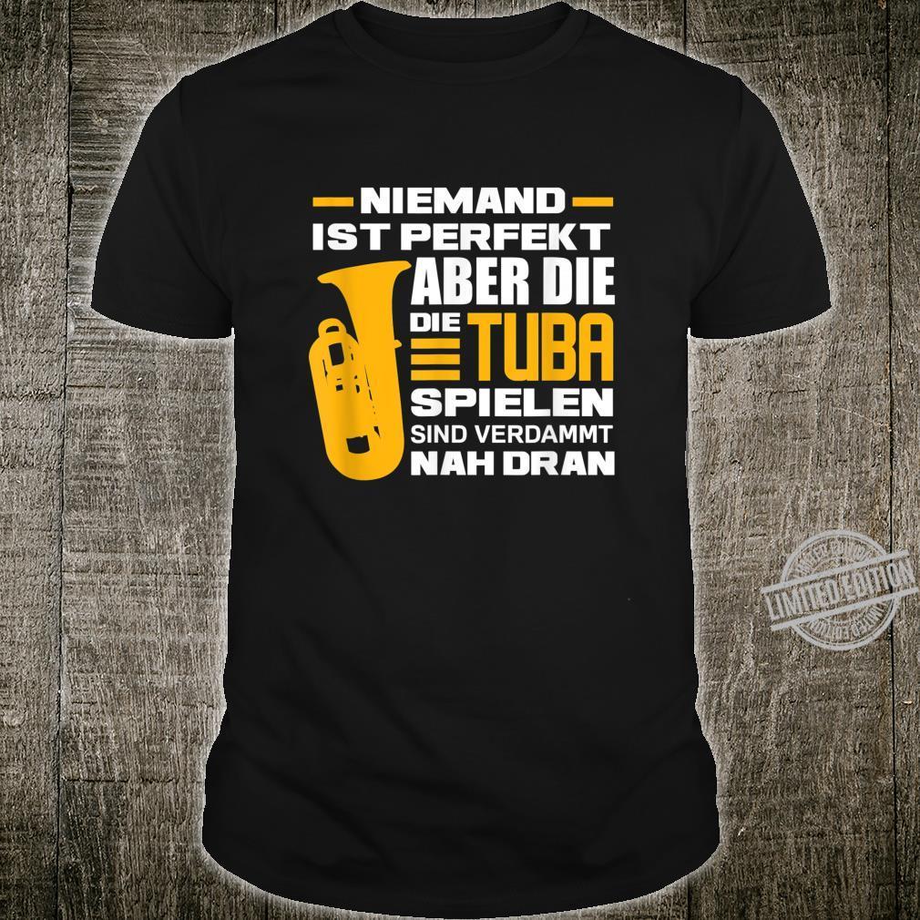 Herren Tuba Tubaspieler Tubist Blasmusiker Blasinstrument Geschenk Shirt