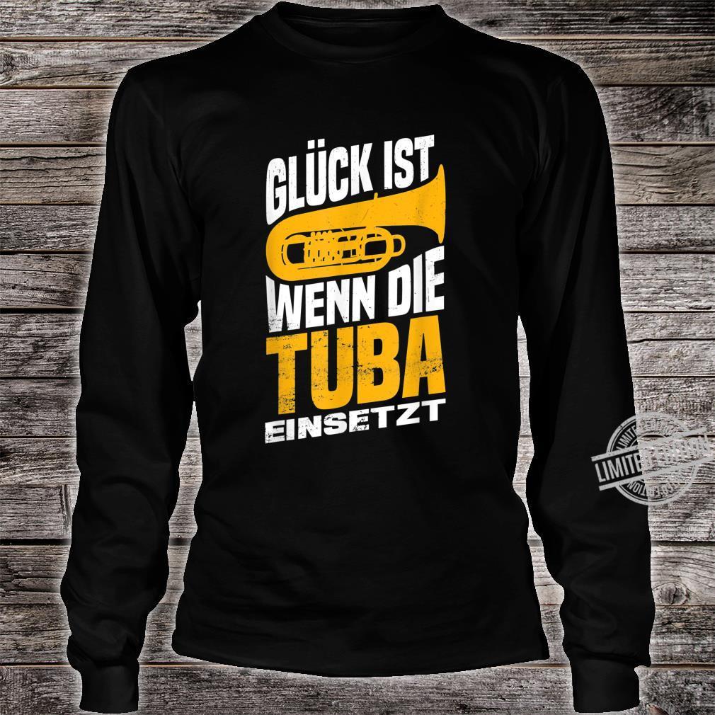 Herren Tuba Tubaspieler Tubist Musik Bass Musiker Instrument Band Shirt long sleeved