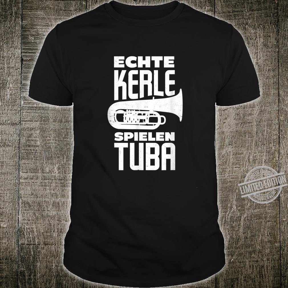 Herren Tuba Tubist Tubaspieler Blasmusiker Blasinstrument Geschenk Shirt