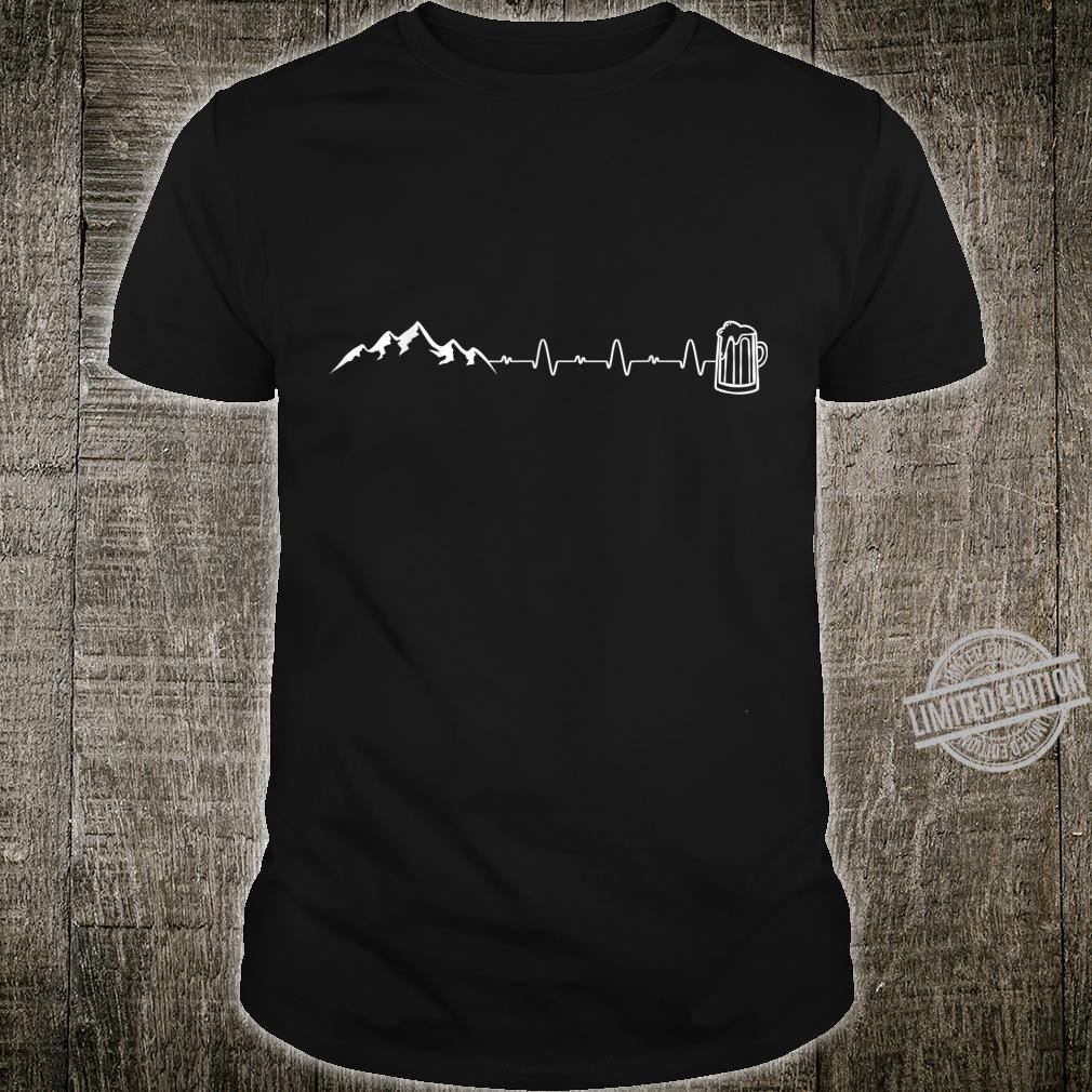 Herzschlag Berge Bergsteiger Bier Bierkrug Geschenk Shirt