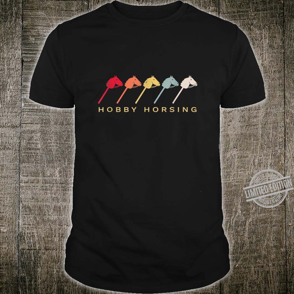 Hobby Horsing Steckenpferd Retro Reiten Geschenk Shirt