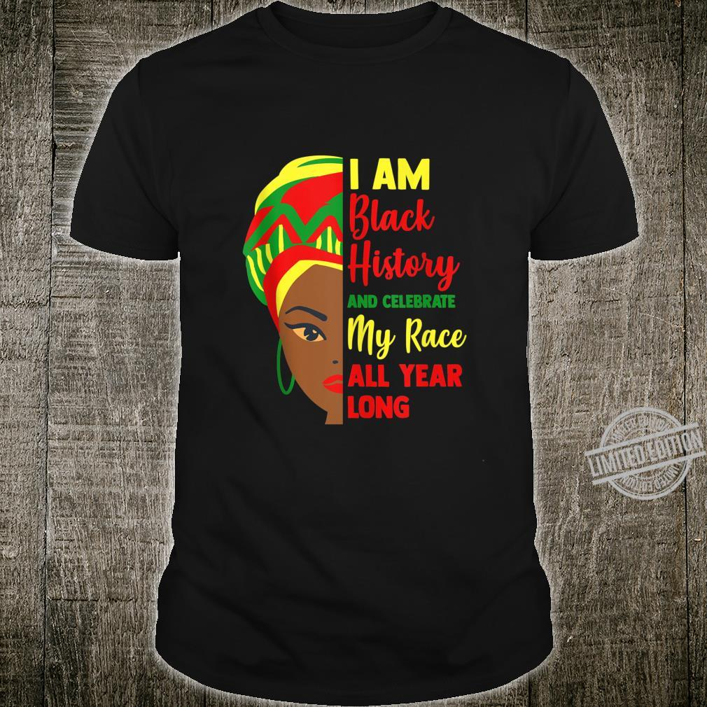 I Am Black History Slogan Celebrate Afro Caribbean Fun Shirt