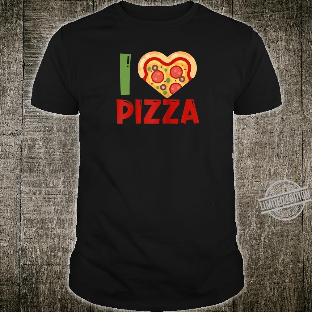 I love Pizza slice heart shape food Shirt
