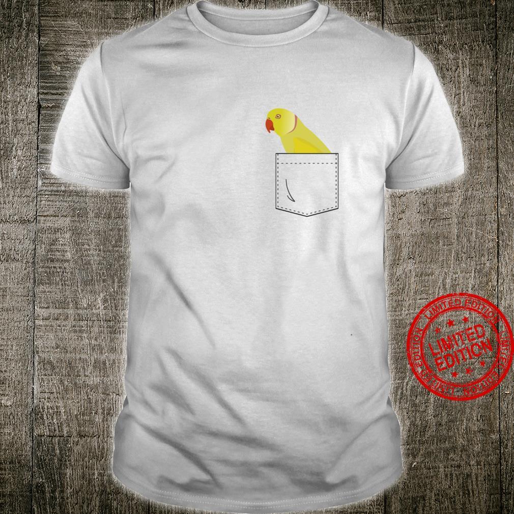 Indischer RingneckSittichgelber Papagei, gefälschte Tasche Langarmshirt Shirt