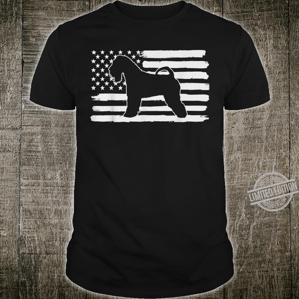 Irish Soft Coated Wheaten Terrier USA Flag Shirt