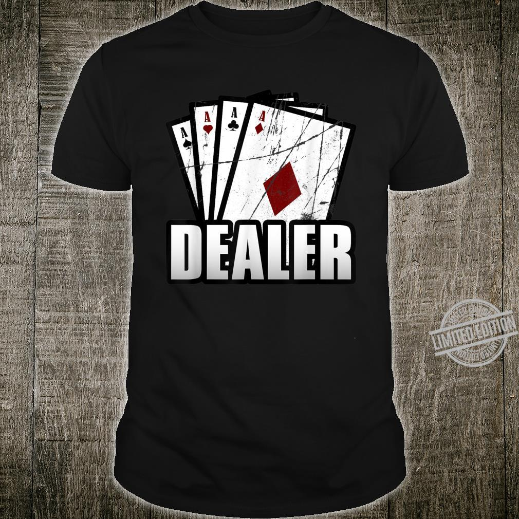 Jahrgang CasinoHändler Croupier PokerHändler Shirt