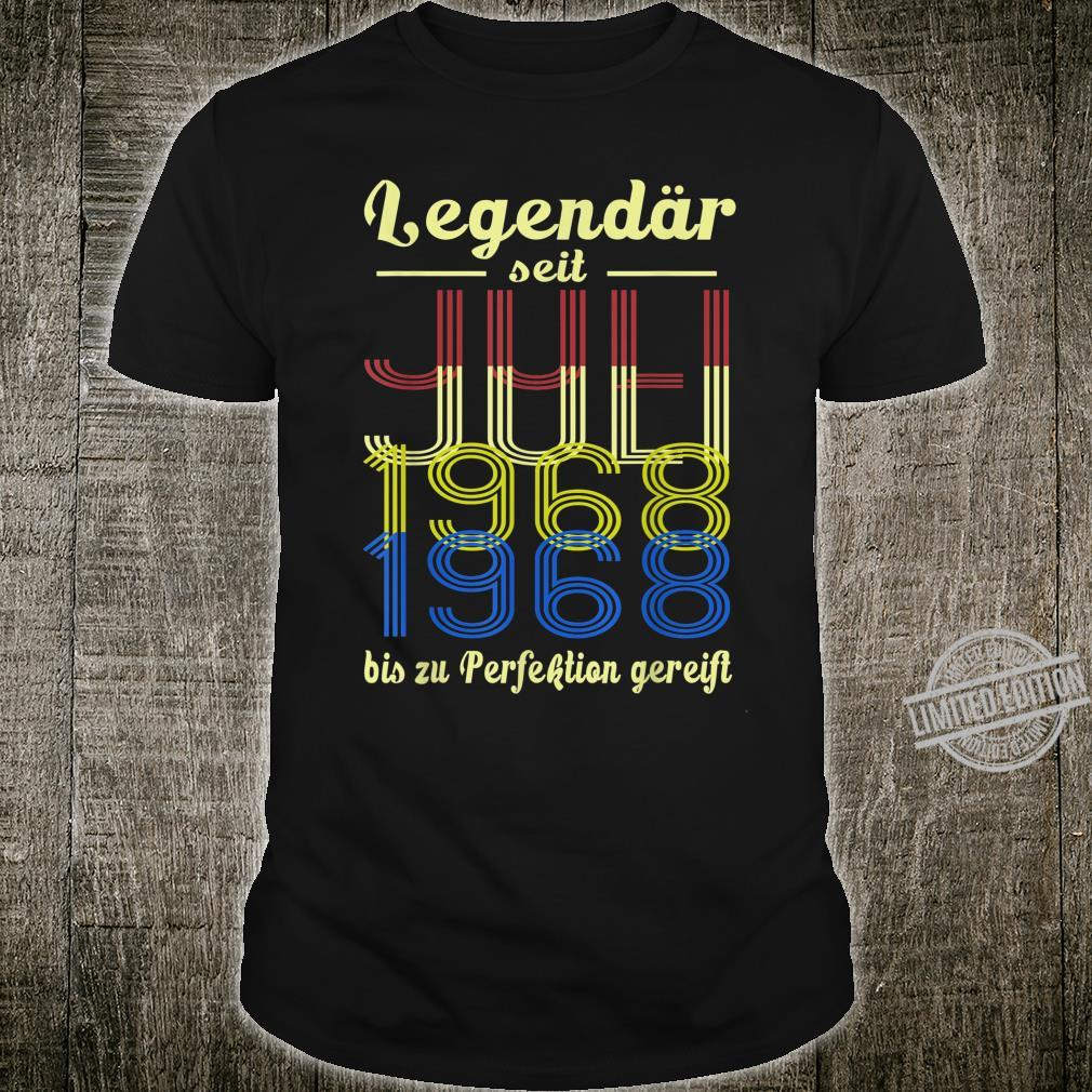 Jahrgang Juli 1968 Geschenk Retro 52 Jahre 52. Geburtstag Shirt