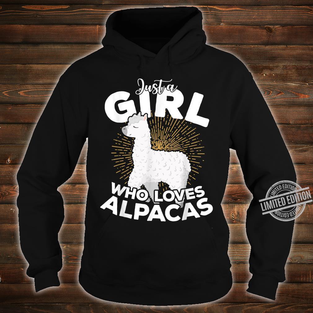 Just A Girl Who Loves Alpacas Girl Birthday Valent Xmas Shirt hoodie