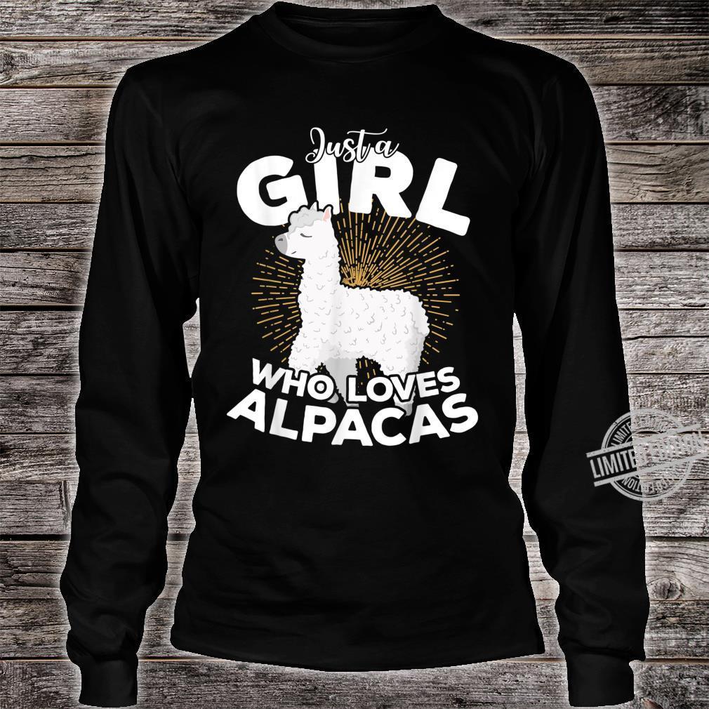 Just A Girl Who Loves Alpacas Girl Birthday Valent Xmas Shirt long sleeved